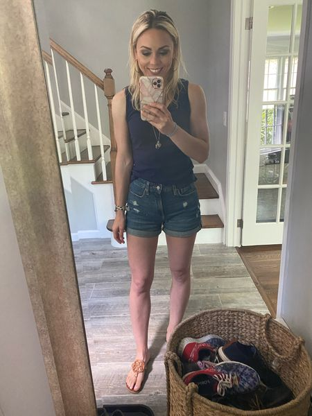 My favorite mom shorts! Perfect for casual and travel. Loving mixing high end brands  (designer brands) with inexpensive budget brands   Summer outfits  Target style  Old navy style  Mom shorts     #LTKsalealert #LTKunder50 #LTKstyletip