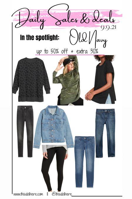 Sale, fall fashion, leggings, jean jacket, denim, jeans, sweater,  #LTKunder50 #LTKSeasonal #LTKstyletip