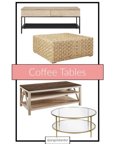 Looking for a new coffee table?! Check out these cuties from Target, Serena & Lily and Amazon! #coffeetable #coffeetables #serenaandlily #amazon #target  #LTKsalealert #LTKhome #LTKstyletip