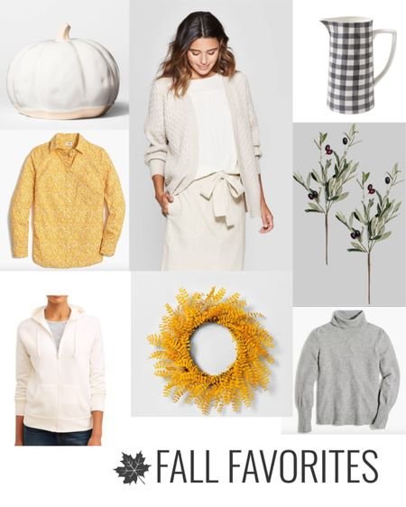 I am Loving all the Fall Fashion and Decor in the cream, greys, and warm yellow tones! Before the Autumn season is over and we are into winter and Christmas. I had to share a handful of my personal favorites that I'm wearing and decorating with! ENJOY!  _______________________________________ #fallfashion #autumn #falldecorating #fallclothing #falldecor #falldays   #liketkit @liketoknow.it   #LTKunder100 #LTKunder50 #LTKhome @liketoknow.it.family @liketoknow.it.home Download the LIKEtoKNOW.it shopping app to shop this pic via screenshot http://liketk.it/2Fehx