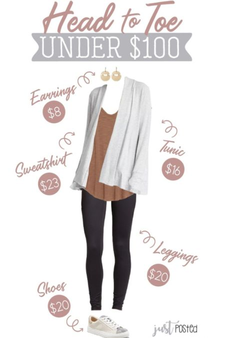 Head to toe under $100 casual layered look is perfect for fall! This cardigan is AMAZING and on sale for only $23. It does run large. I sized down to an XS. The tunic tee & leggings drop an extra 30% off in your cart today, and the cute sneakers are on sale for only $20 until today! The entire look is only $87 with all these deals!!   Sale Style Tip Under $100  #LTKunder100 #LTKstyletip #LTKSeasonal