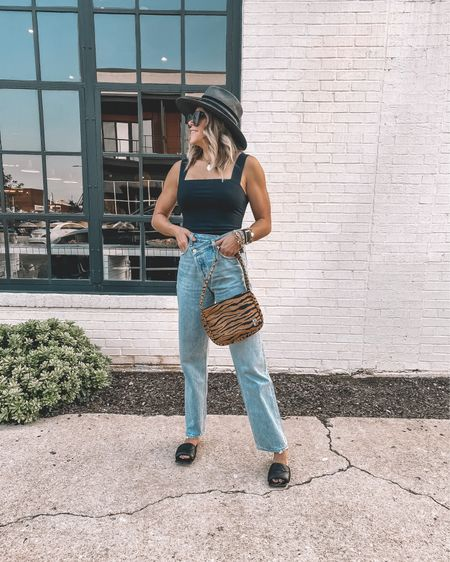 The perfect fall date night look. My top is $29, and this tiger bag is a fall must have.   #LTKunder50 #LTKstyletip #LTKSeasonal