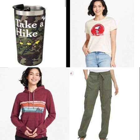 I would go hiking just so I can wear the new collection at L.L. Bean x PEANUTS