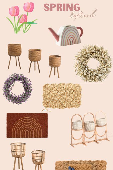 Spring planters, doormats, gardening, wreaths http://liketk.it/3cmO4 #liketkit @liketoknow.it