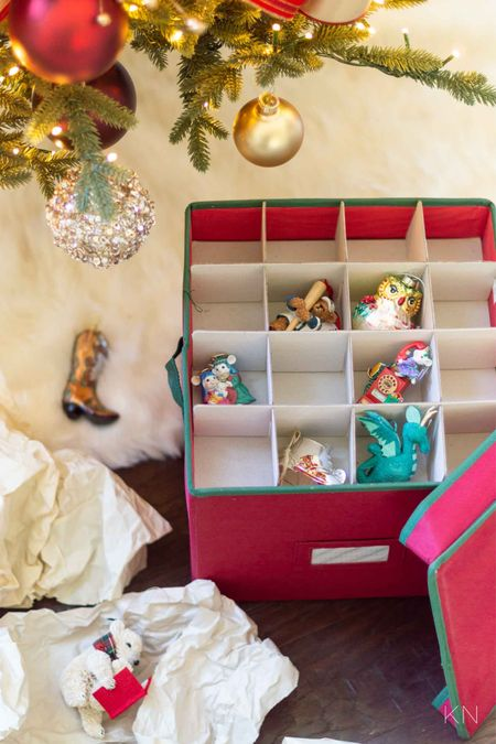 This ornament storage bin is used for our precious keepsake ornaments to ensure they are kept safe year to year. Christmas storage holiday storage Christmas organization holiday prep Walmart find  #LTKSeasonal #LTKHoliday #LTKunder50