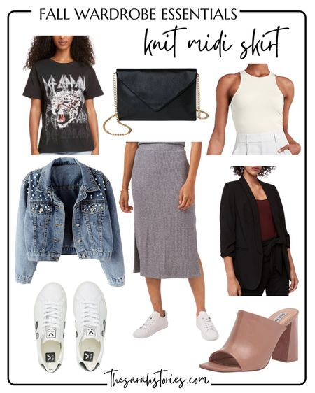 FALL WARDROBE ESSENTIALS: KNIT MIDI SKIRT // casual or dressy? I love both! Fits tts.     #LTKstyletip #LTKSeasonal #LTKunder50