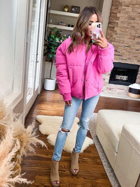 Pink puffer jacket size Xs   #LTKsalealert #LTKunder100 #LTKunder50