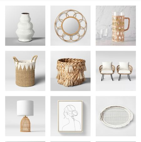 Beautiful summery home decor pieces from Target.   #LTKhome #LTKstyletip #LTKunder50