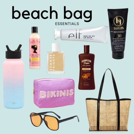 What are your beach bag essentials! Mine are as follows ; Water bottle  Hair milk  Lip balm and sunscreen  Tanning oil Sunnies  A catchall bag  Shimmering body oil  #liketkit @liketoknow.it http://liketk.it/3geGa