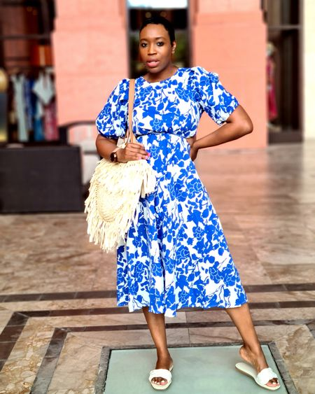 """A dress for brunch. A dress for shopping.  A dress for a date. A dress for any outing or occasion.  A dress!   I absolutely loved bouncing around the property in this beautiful blue number during my staycation. And I copped it for just $20!   This entire look is linked for your next """"I feel like getting cute"""" outing! @liketoknow.it #liketkit http://liketk.it/3nhvC #LTKstyletip #LTKunder50 #LTKfit"""
