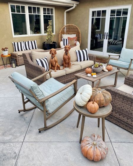 """Happy first day of fall, friends 🍁 🎃 🍂  Shop our patio favorites at the link in my bio or by following """"mystylediaries"""" in the @liketoknow.it app. http://liketk.it/2XbD0 #liketkit #LTKhome @liketoknow.it.home #walmartfinds"""