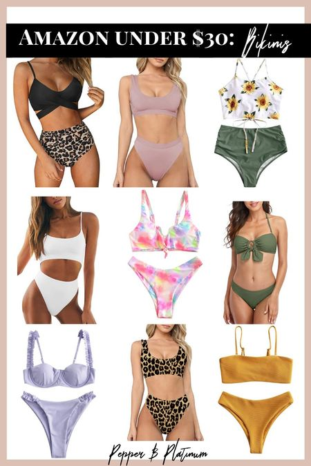 Amazon bikinis all under $30!   #LTKunder50 #LTKSeasonal #LTKswim