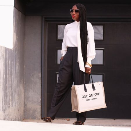 Let's Work ☕️ || Morning lovies! A new post now on the blog of this work wear inspired look. I'm forever a fan of a lovely silk top and high waist trousers. Link to the blog in my bio 🔝. #billiethelabel #newbottega #workwear  _______ Or follow along on the LIKEtoKNOW.it app to get more details to this look and more. #LTKstyletip #LTKworkwear #LTKitbag @liketoknow.it http://liketk.it/2LbYQ #liketkit