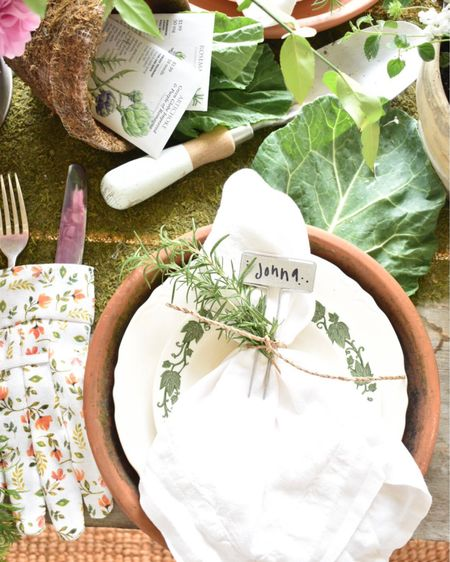 I hosted a brunch last weekend for a dear friends birthday.  I wanted to make it special, and a bit different, so I created a garden themed tablescape.  I had so much fun getting creative with this tablescape!  #gardentheme #gardenparty #gardeninspired #summerentertaining #summertablescape   http://liketk.it/3hMYr #LTKhome #LTKunder50 #liketkit @liketoknow.it.home @liketoknow.it    You can instantly shop my looks by following me on the LIKEtoKNOW.it shopping app