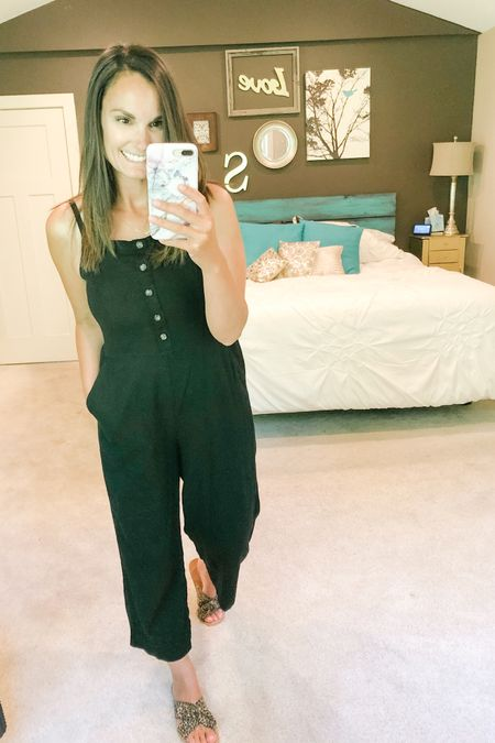 """Documenting because I actually did something with myself today!! I've been wearing """"work outside"""" clothes for the last week while all the landscaping stuff was happening. This linen-blend jumpsuit is so perfect for days like today and tonight I'll throw a layer over and enjoy a summer night in Michigan! ❤️ http://liketk.it/2R9Az #liketkit @liketoknow.it"""