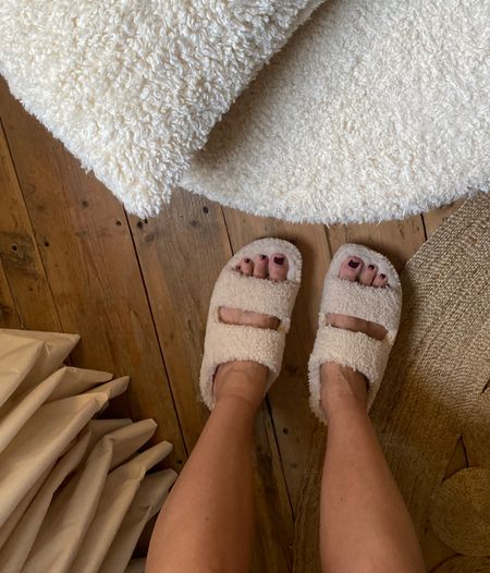 The most cosy shearling slippers for home - love that they support my back too
