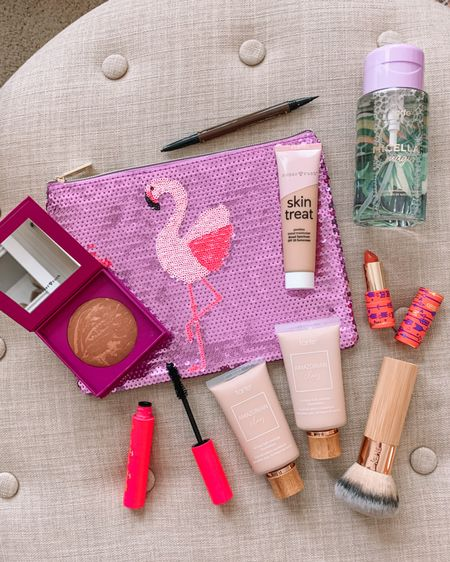 Make me pretty! 💄Scored new beauty items during TARTE's custom kit sale! 💛 You get to choose 7 full-size items for just $63 plus FREE shipping!   I chose the:  1️⃣ Tinted Moisturizer with SPF20  2️⃣ Sun & Fun Bronzer (looks so pretty with a hint of shimmer 3️⃣ Double Take Eyeliner (has a thin brush & pencil)  4️⃣ Big Ego Mascara (reorder!)  5️⃣ Double Duty Lipstick (Tangerine Target) 6️⃣ Makeup Remover 7️⃣ The cutest Sequin Flamingo Bag (for Jordan!) 🦩  What are you getting??   Use my code to save 15% on everything else! HONEYWEREHOME15    http://liketk.it/3hbbo #liketkit @liketoknow.it #tartepartner @tartecosmestics #ad