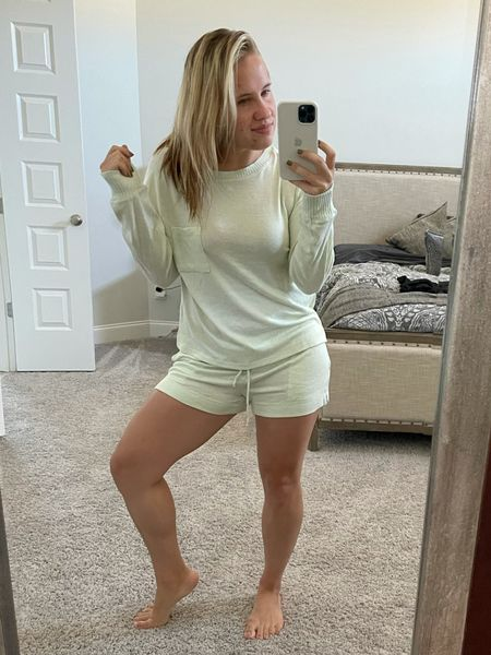 My favorite target lounge wear and sleep set. It's a solid material and so cozy! Matching set.   #LTKhome #LTKunder50 #LTKfit