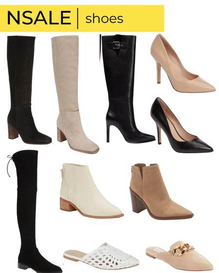 Nsale shoe favorites knee high boots otk boots booties high heels slides   #LTKsalealert #LTKstyletip #LTKshoecrush