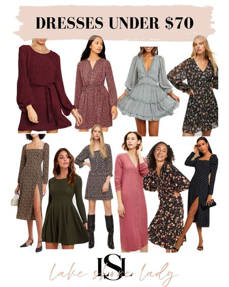 Fall dresses under $70! (I included a few from Loft that are over, but currently 40% off with promo code!)    #LTKunder100 #LTKSeasonal