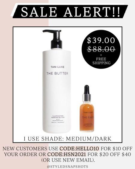 HSN sale 🚨 Tan Luxe gradual tanning lotion and tan luxe face drops are on sale for $39! Code HSN2021 or HELLO10! #LTKbeauty #LTKsalealert #LTKunder50 #liketkit @liketoknow.it http://liketk.it/3igQ9