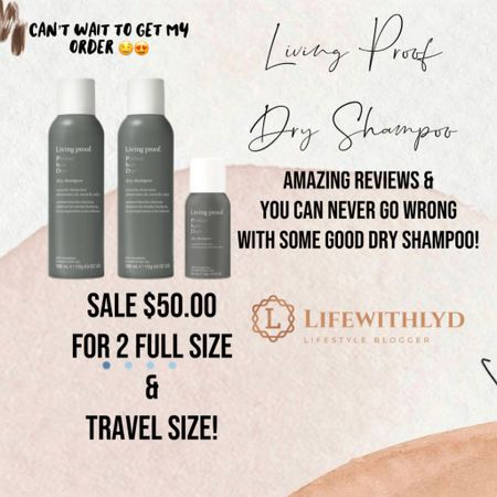 Wanting that clean hair look but haven't washed in a few days because #momlife? Here you go! Living Proof has amazing reviews & so many testimonials for their dry shampoo!  They are running a heck of a deal right now. Go check it out by clicking the link!   @liketoknow.it #liketkit http://liketk.it/37Skg
