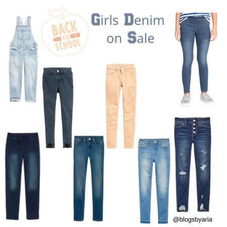 Girls jeans 50% off today!! Perfect to stock up for back to school!   kids clothes Overalls  Jeans  School clothes    #LTKsalealert #LTKunder50 #LTKkids