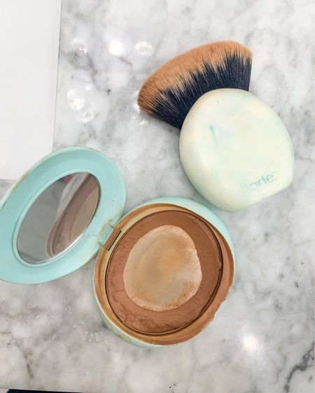 Cream bronzer - shade Seychelles. Tarte cosmetics. This is my fave beauty product! It keeps my skin moisturized and glowy through day and night! Can't recommend the brush enough either!!  #LTKSale #LTKunder50 #LTKbeauty