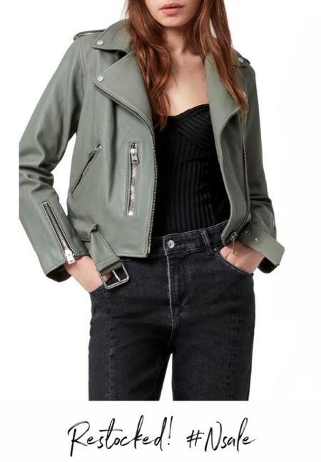 Allsaints leather jacket, Nordstrom sale, #nsale   http://liketk.it/3kPsL @liketoknow.it #liketkit  #LTKsalealert