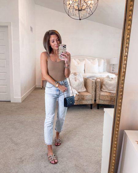 abercrombie bodysuit (tts, xs) abercrombie jeans (sized up one to 25) sam edelman sandals (tts)   #LTKunder100 #LTKstyletip #LTKunder50