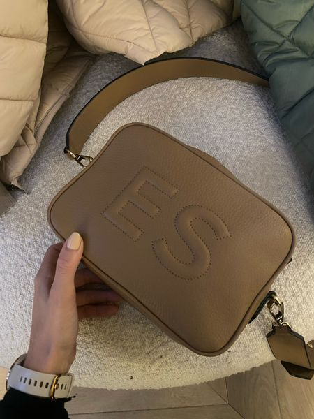 Monogram bag - monogrammed bag - crossbody bag - cross body bag - leather bag - leatherology - this crossbody leather bag in nude makes the perfect gift or daytime bag - I am loving using it with every outfit! It's made from soft leather and you can get it personalised meaning it's a great gift idea! If you're looking for a Christmas gift idea this is such a gorgeous bag   #LTKGiftGuide #LTKHoliday #LTKitbag
