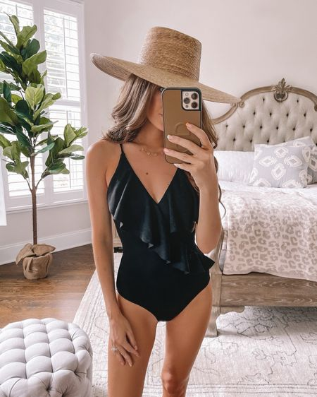 Black one piece swimsuit with ruffles, included in Prime Day sales! Wearing XS. http://liketk.it/3i3aQ #liketkit @liketoknow.it #LTKswim #LTKunder50 #LTKsalealert