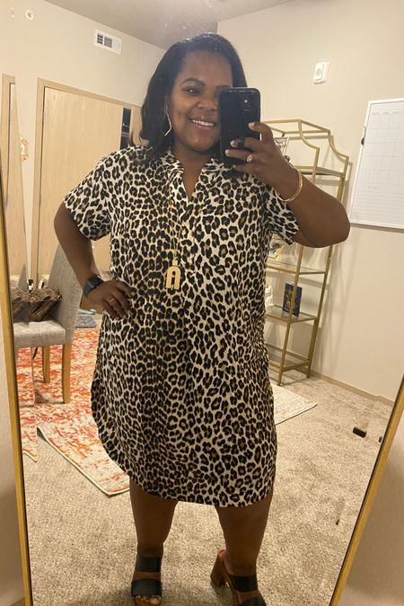 You will love this style of dress! I'm wearing a Large. You can size down one in this. 🐆 #hm http://liketk.it/3hfnG #liketkit @liketoknow.it #LTKcurves #LTKunder50 #LTKstyletip