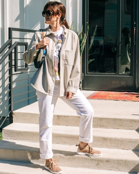 Still love my faux leather pieces, including this fun shacket. I linked to a few more pieces I am thinking of adding to my closet - and the olive colored wide-leg pants might already be on their way!    Be sure and follow me at www.LIKEtoKNOW.it/AFashionatingLife to get the product details for this look and others.     http://liketk.it/3a4xx #liketkit @liketoknow.it #LTKstyletip #LTKunder100 #LTKunder50