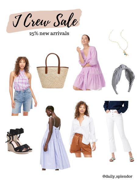 Pretty summer looks on sale at J Crew! Grab them before sizes run out    #summerdress #haltertop #whitejeans #espadrilles #accessories   #LTKSeasonal #LTKunder100 #LTKsalealert