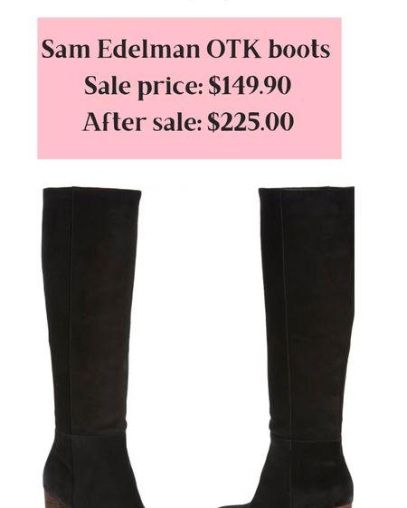 http://liketk.it/3jFeH #liketkit Nordstrom anniversary sale black over the knee boot @liketoknow.it