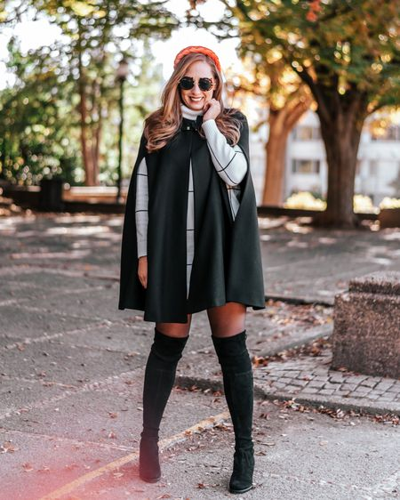 Sharing my absolute favorite fall 🍁 sweater dress with y'all today! I love how warm this dress is and if you need to, you can always layer with a cape (they never go out of style IMO)! Make sure to get all the outfit deets via LIKEtoKNOW.it- I found a great OTK boot 👢 for under $50 that comes in 9 different colors! 📸: @kimberlygraydon_ . . .  http://liketk.it/2Zo3S #liketkit @liketoknow.it #falloutfit #fallfashion #otkboots #sweaterdress #falldress #amazonfashion #dcblogger #dcfashionblogger #dmvblogger #cape
