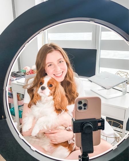 That dog mom content creator life! 📱 I linked all my office tools I use daily, including my can't-live-without Apple products, Neewer ring light and Amazon office finds!     http://liketk.it/3jkFT #liketkit @liketoknow.it #LTKhome