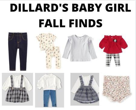 Dillard's baby girl fall FINDS! #babygirl #fall #fallstyle   #LTKbaby #LTKunder50 #LTKfamily