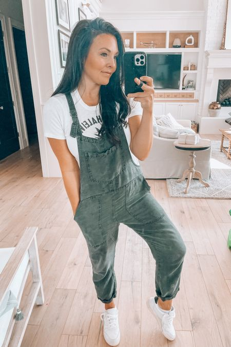 Twill overalls on sale $35- these will sell out!   Come in 3 colors, I am wearing small e http://liketk.it/3f15E #liketkit @liketoknow.it #LTKsalealert #LTKunder50  American eagle