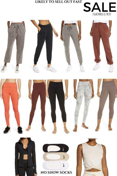 Nordstrom Anniversary Sale  #nsale Leggings  Workout leggings  Joggers  Nike  Biker shorts No show socks     #LTKfit #LTKunder100 #LTKsalealert