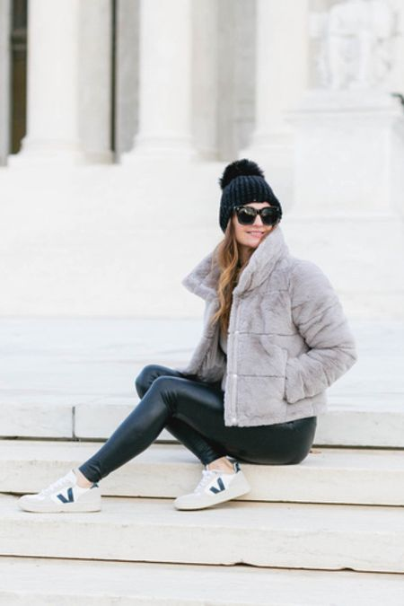 Puffer coats, winter style, holiday gifts, jackets, coat, Spanx outfit, sneakers   #LTKstyletip #LTKGiftGuide