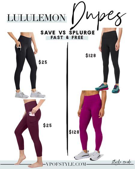 Amazon finds #amazonfinds Lululemon fast and free legging dupes #liketkit http://liketk.it/34UTv @liketoknow.it #LTKfit #LTKNewYear #LTKunder50 #luludupes #lululemondupes #lululemonlookalikes #lululemonlookforless workout leggings workout clothes workout wear workout Wednesday