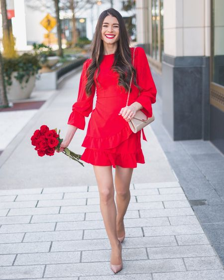 Will you be celebrating V-day with your Valentine, your Galentines, or both?? 🥰 Either way, you'll be twirling around with heart eyes 😍 when you're in this $18 dress!! 💃🏻 You can instantly shop my looks by following me on the LIKEtoKNOW.it app or by going to http://liketk.it/2zCww 😘 #liketkit @liketoknow.it #LTKsalealert #LTKstyletip #LTKunder50