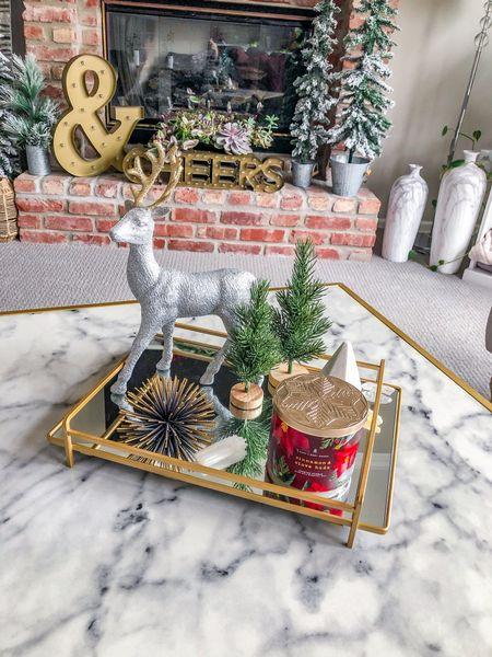 Cozy Christmas tray with a bit of sparkle. #modernhomedecor http://liketk.it/33Pgj #liketkit @liketoknow.it #StayHomeWithLTK #LTKgiftspo #LTKhome