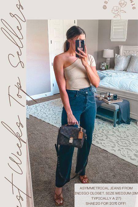 Top seller: asymmetrical jeans from indigo closet! SHAE20 for 20% off!  Wearing a medium   http://liketk.it/3i2OH #liketkit @liketoknow.it #LTKsalealert #LTKstyletip #LTKunder50