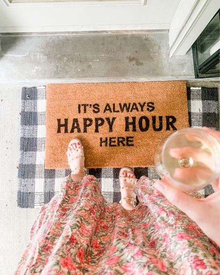 It's always happy hour here 🥂 I love adding personality to the front porch with cute doormats! Everything about this makes me happy! http://liketk.it/3fRLB #liketkit @liketoknow.it