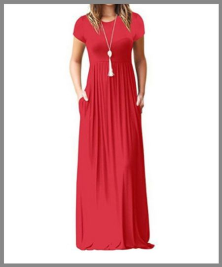 long maxi dress from Walmart. beautiful colors with short sleeves great for any occasion. perfect summer outfit or fall piece.  #LTKSeasonal #LTKunder50 #LTKunder100
