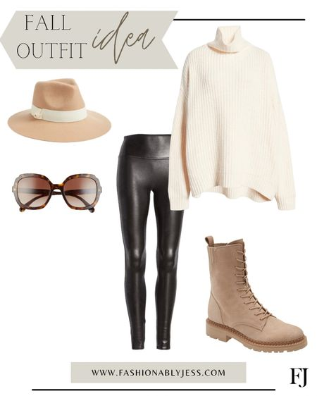 Fall outfit, sweaters, Spanx, combat boots, date night outfit   #LTKstyletip #LTKunder100 #LTKsalealert