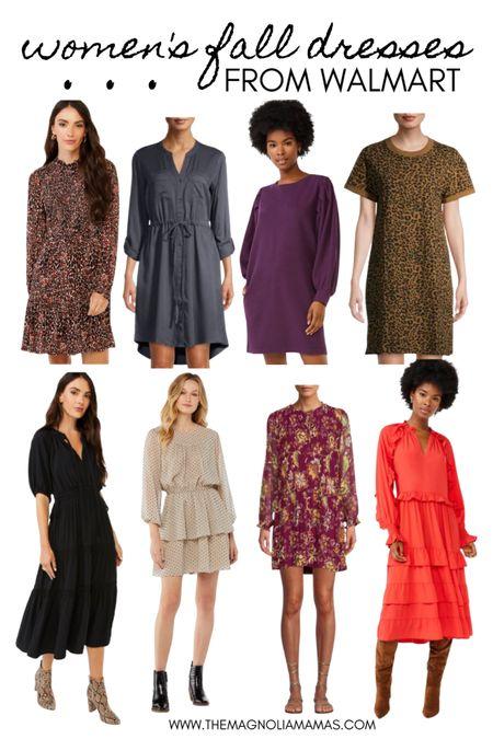 Fall dresses from Walmart! 🍁   #LTKunder50 #LTKworkwear #LTKSeasonal